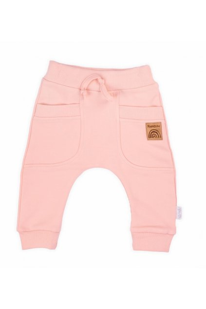 Dojčenské tepláčky Nicol Rainbow ružové