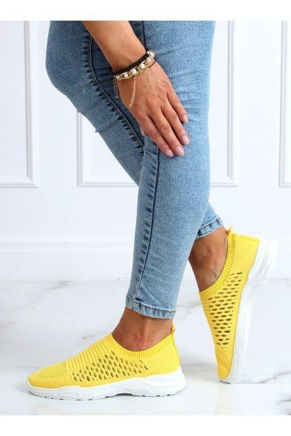 Dámske tenisky žlté 9862