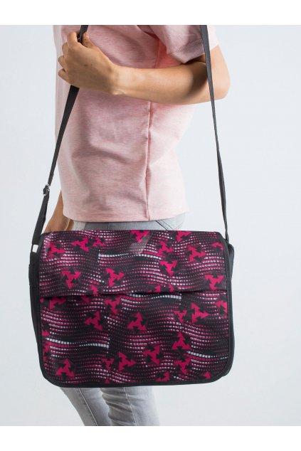 Textílna kabelka čierno-červená kód CE-TR-SB-1-4-D.77P