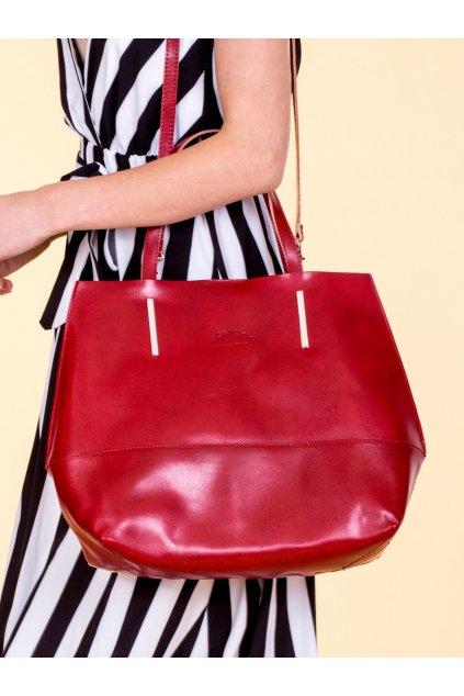 Shopper kabelka červená kód CE-TR-TWR-45.05