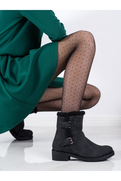 Čierne dámske topánky Cm paris NJSK 99-12B/B