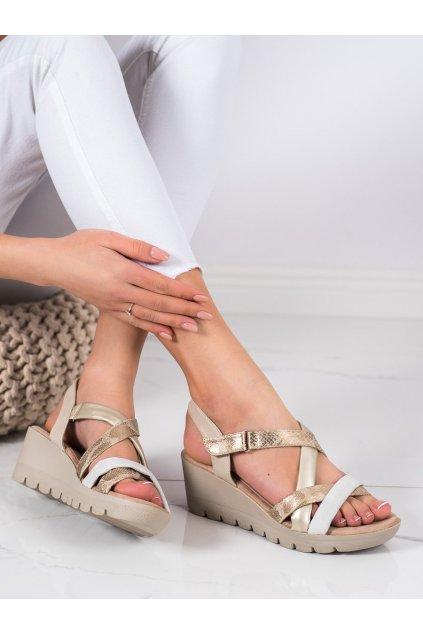 Hnedé sandále na platforme Kylie kod K2011303PLA