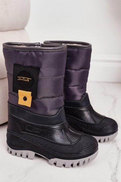 Detské členkové topánky farba sivá kód obuvi D101 GREY