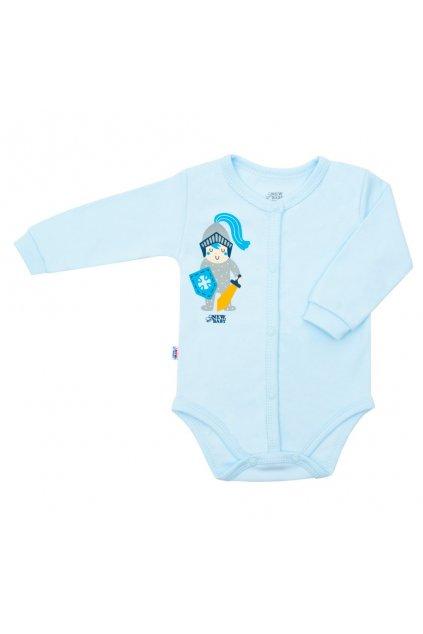 Dojčenské bavlnené celorozopínacie body New Baby Knight