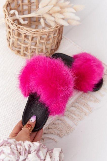 Detské šľapky farba ružová kód obuvi CK162P FUCHSIA