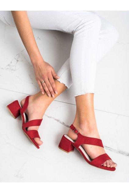 Červené sandále na podpätku Kylie kod K2013102RO