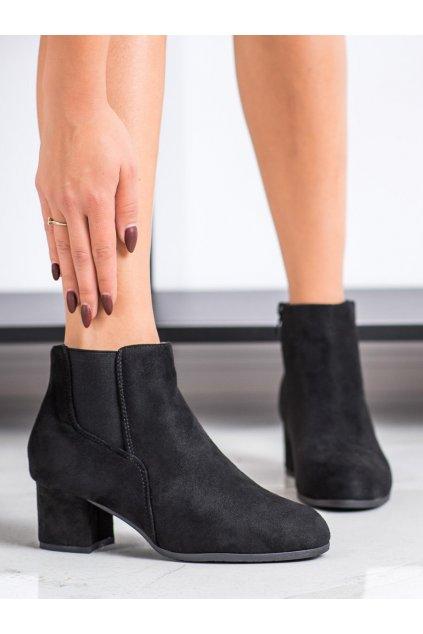 Čierne dámske topánky Clowse NJSK 9B1100B