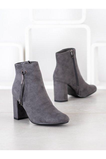 Sivé dámske topánky Goodin NJSK HF28G