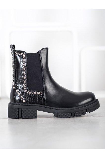 Čierne dámske topánky Yes mile NJSK K209B