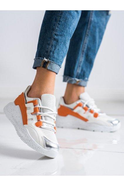 Biele tenisky Ideal shoes kod 2009OR