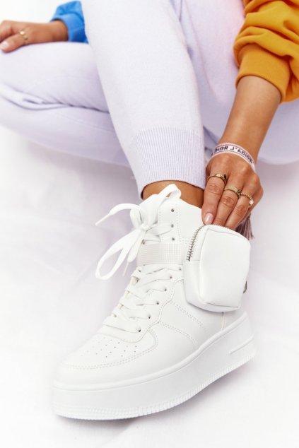 Dámske tenisky farba biela kód obuvi BO-687 WHITE