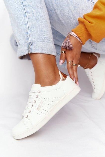 Dámske tenisky farba biela kód obuvi DD274583 WHITE/COPPER