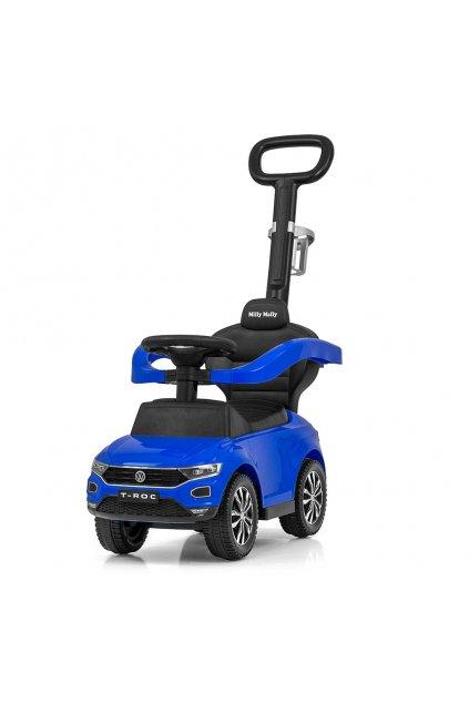 Detské odrážadlo s vodiacou tyčou VOLKSWAGEN T-ROC Milly Mally modré