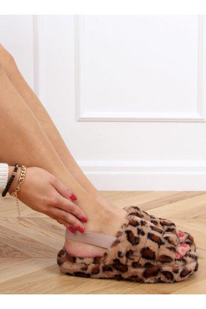 Damske ponožky hnedé X8130