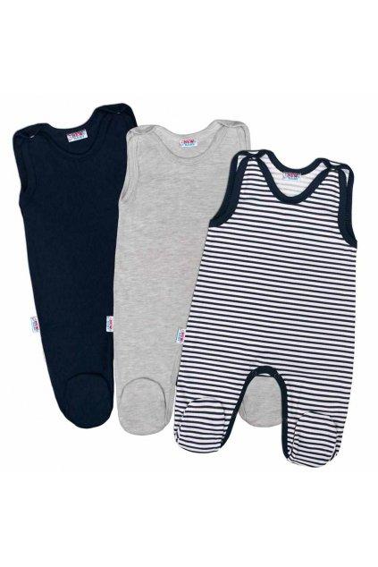 Dojčenské dupačky New Baby Classic II Chlapec 3ks NJSK 35053