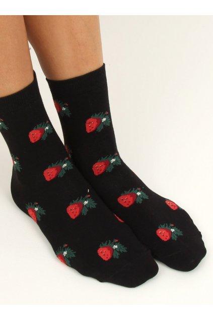 Dámske ponožky čierne NJSK SK-NZC6573