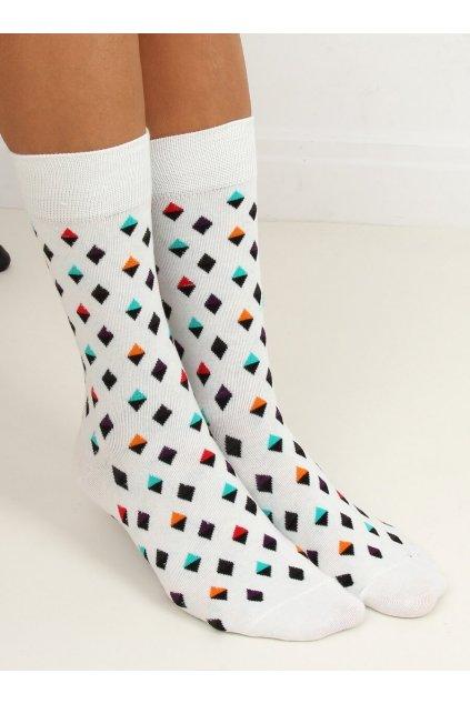 Dámske ponožky biele NJSK SK-6880D