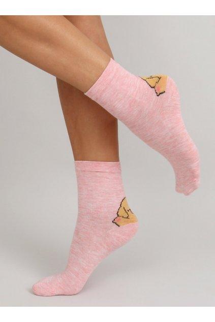 Dámske ponožky ružové NJSK SK-0SL-B2-2
