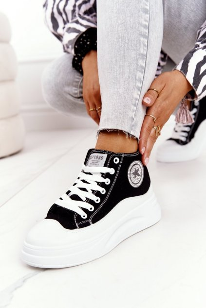 Dámske tenisky farba čierna kód obuvi SJ2068-1 BLACK