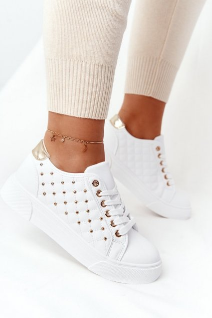 Dámske tenisky farba biela kód obuvi LA124P GOLD