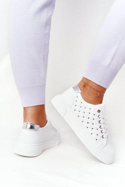 Dámske tenisky farba biela kód obuvi LA124P SILVER