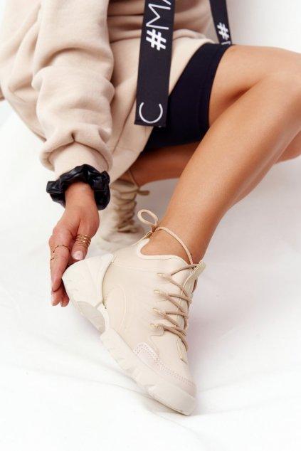 Dámske tenisky farba hnedá kód obuvi LA126P BEIGE