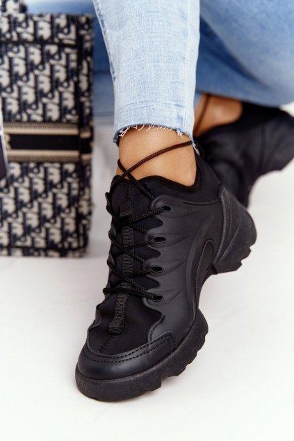 Dámske tenisky farba čierna kód obuvi LA126P BLACK