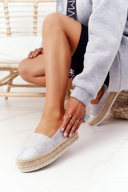 Dámske tenisky farba sivá kód obuvi RS-S15 GREY