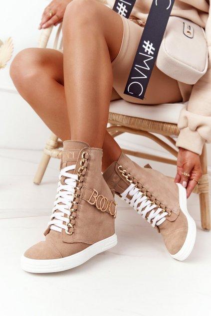 Dámske tenisky farba hnedá kód obuvi 2222/564/z JASNY CAMEL