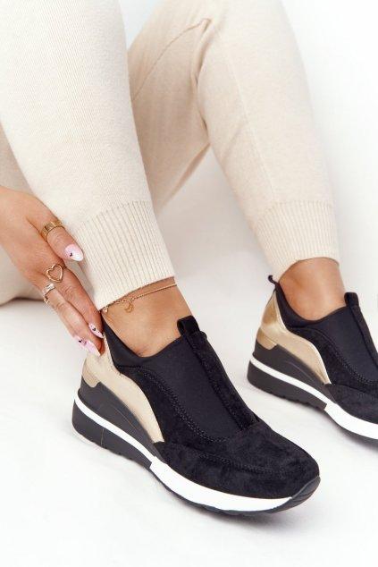 Dámske tenisky farba čierna kód obuvi 21-10593 BLK
