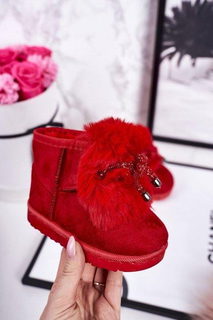 Detské snehule farba červená NJSK 602-1E RED