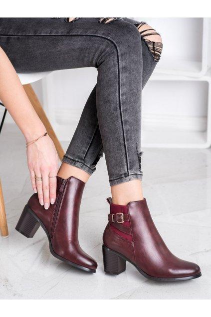 Červené dámske topánky Ideal shoes NJSK BM-9060WI