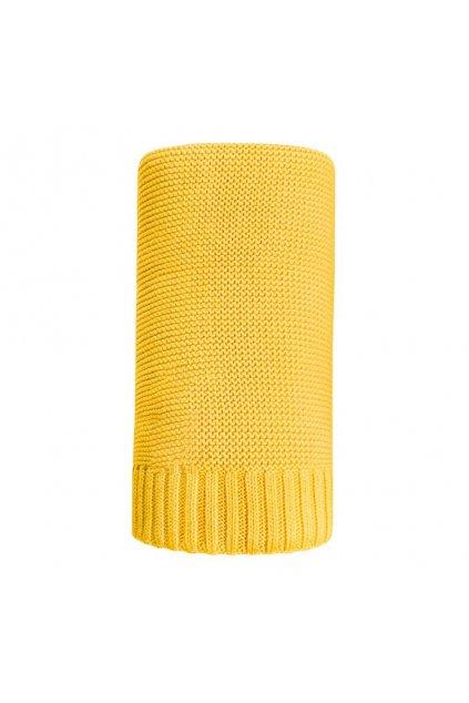 Bambusová pletená deka NEW BABY 100x80 cm žltá