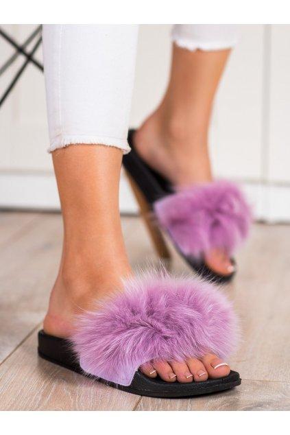 Fialové dámska obuv na doma Bona kod RS-45L.PU