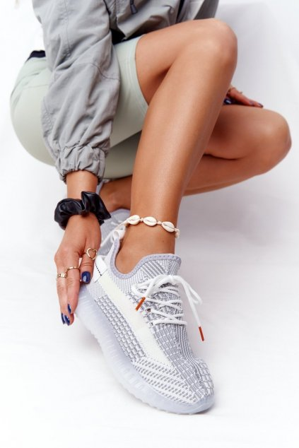 Dámske tenisky farba sivá kód obuvi 1087 GREY