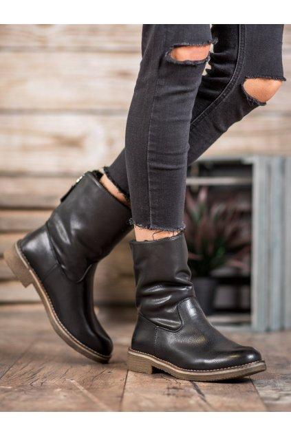 Čierne dámske topánky Shelovet NJSK Z141B