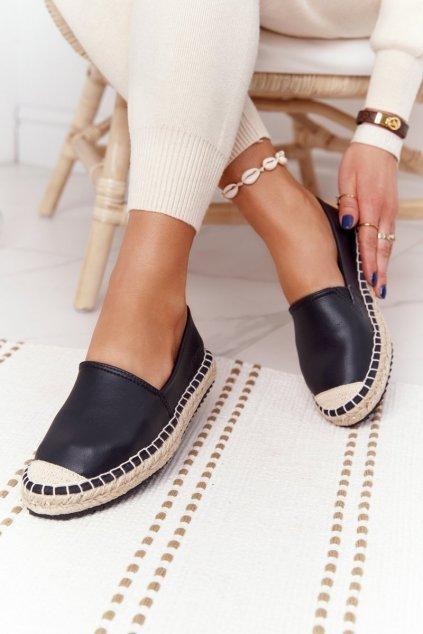 Dámske espadrilky farba čierna kód obuvi HH274505 BLACK