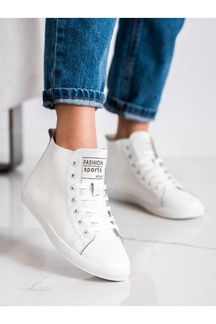 Biele tenisky Ideal shoes kod LX-9858W/B