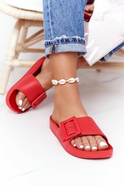 Dámske šľapky farba červená kód obuvi FF274A385 RED