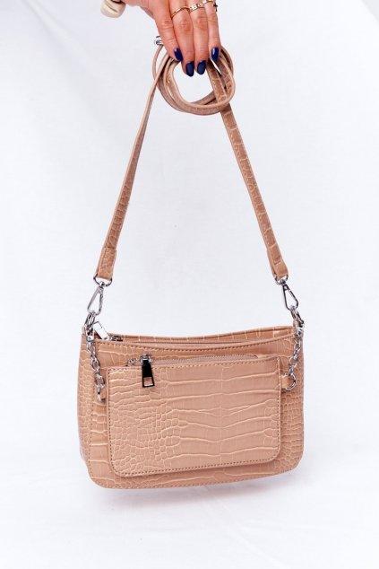 Dámska kabelka hnedá kód kabelky AM-27 KHAKI / BEIGE