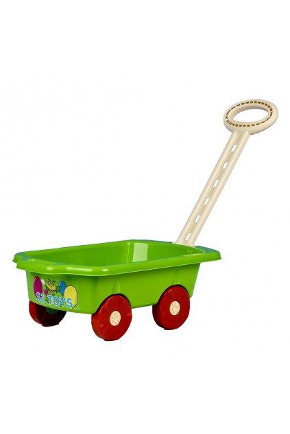 Detský vozík Vlečka BAYO 45 cm zelený