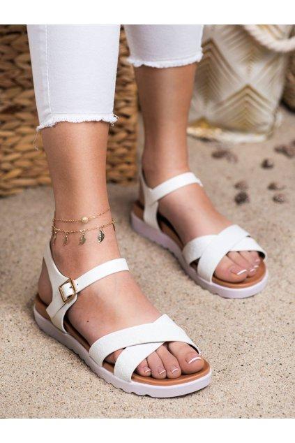 Biele sandále s plochou podrážkou Weide kod Y71-41W