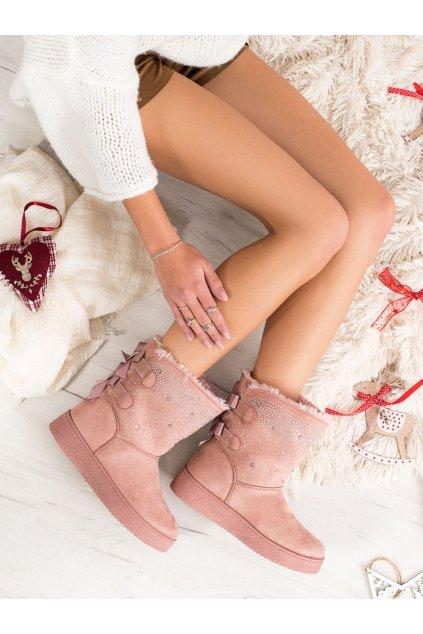 Ružové snehule dámske Small swan NJSK LT985P