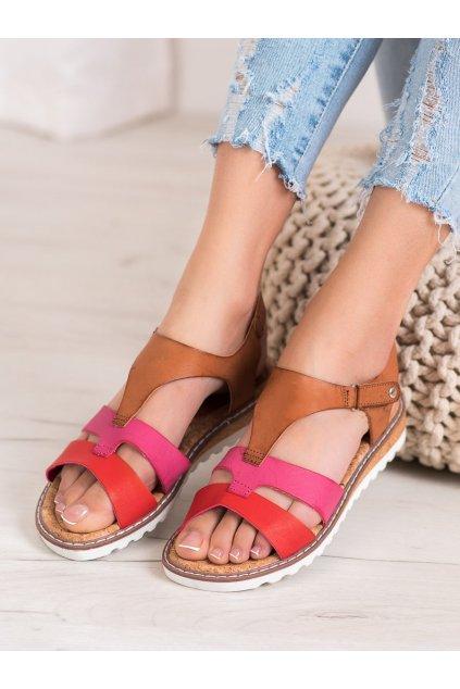 Viacfarebné sandále Kylie NJSK K2002104ROJ
