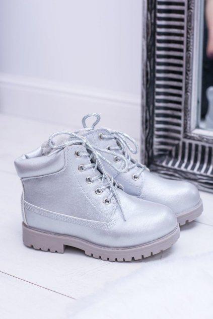 Sivé topánky NJSK 20306-3G SILVER