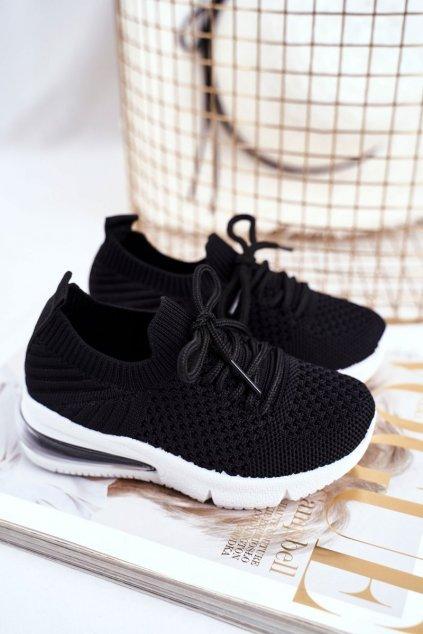 Detské tenisky farba čierna NJSK 667-A BLK