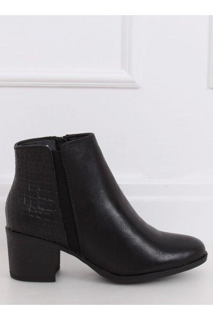 Dámske členkové topánky čierne NJSK HFN-0759