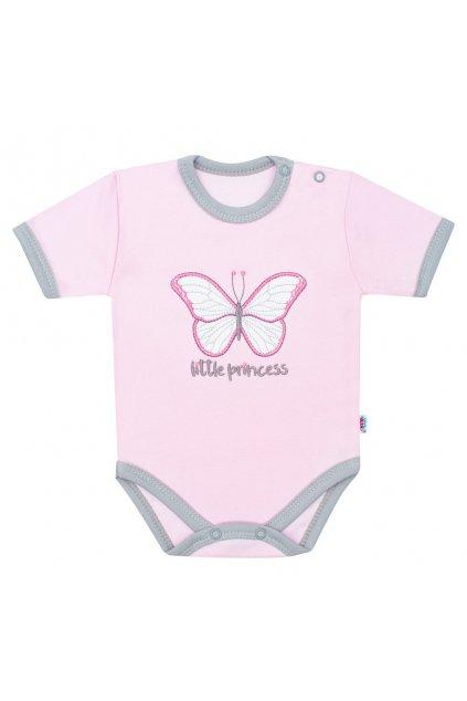 Dojčenské bavlnené body s krátkym rukávom New Baby Little Princess
