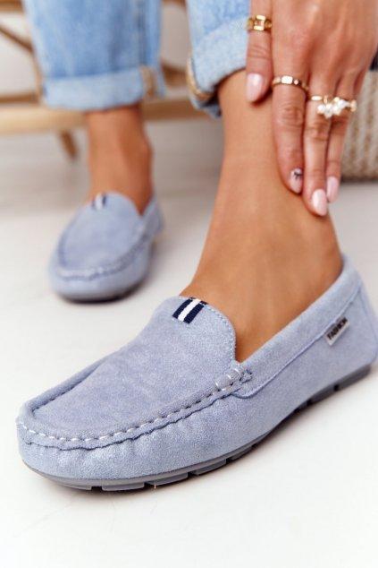 Dámske mokasíny farba modrá kód obuvi MH03AK-8 BLUE