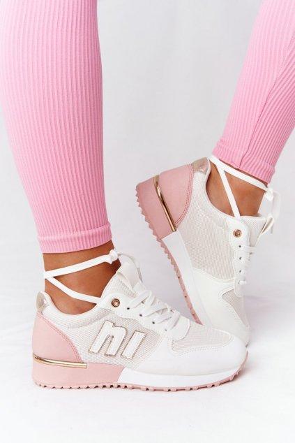Dámske tenisky farba ružová kód obuvi R32 / TCYR-32 WHITE/PINK
